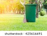 trash bin at park. | Shutterstock . vector #425616691