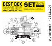 modern best box urban city... | Shutterstock .eps vector #425621209