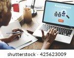 recruitment hiring employment... | Shutterstock . vector #425623009