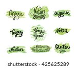 set of organic and nature food... | Shutterstock .eps vector #425625289