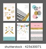 set of greeting  invitation... | Shutterstock .eps vector #425630071