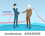 businessman handshake business... | Shutterstock .eps vector #425630305