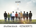 hope belief believe imagine... | Shutterstock . vector #425630971