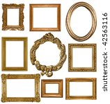 picture gold frame on a white | Shutterstock . vector #42563116