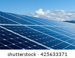 solar panel against clouds and... | Shutterstock . vector #425633371