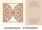 lazercut vector wedding... | Shutterstock .eps vector #425636041