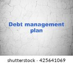 finance concept  blue debt... | Shutterstock . vector #425641069