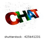 web design concept  pixelated... | Shutterstock . vector #425641231