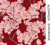 cherry blossom vector... | Shutterstock .eps vector #425644279