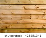 Horizontal Natural Wooden Fenc...