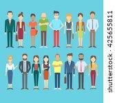 set of business people ... | Shutterstock .eps vector #425655811