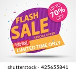 flash sale banner and best... | Shutterstock .eps vector #425655841