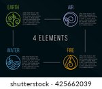 nature 4 elements circle logo... | Shutterstock .eps vector #425662039