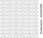 hexagon vector pattern ... | Shutterstock .eps vector #425664589
