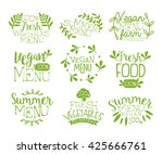 vegan food vintage stamp... | Shutterstock .eps vector #425666761