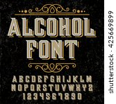 hand crafted font for alcohol... | Shutterstock .eps vector #425669899
