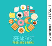 Vector Breakfast Concept With...