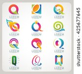 logo letter q element and... | Shutterstock .eps vector #425677645