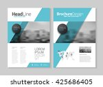 business brochure design.... | Shutterstock .eps vector #425686405