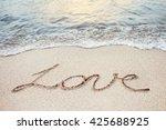 love word handwritten on a... | Shutterstock . vector #425688925
