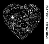 black and white valentine...   Shutterstock .eps vector #42569143