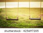 children swing in the park ... | Shutterstock . vector #425697205