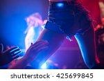 dancehall girl dancing in the...   Shutterstock . vector #425699845