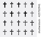 crosses a simple vector set.... | Shutterstock .eps vector #425702941