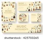 festival music instruments... | Shutterstock .eps vector #425703265