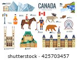 country canada travel vacation... | Shutterstock .eps vector #425703457