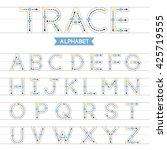 a z uppercase trace alphabet... | Shutterstock .eps vector #425719555