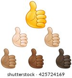 thumbs up emoji hand set of...