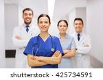 clinic  profession  people ... | Shutterstock . vector #425734591