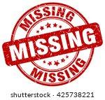 Missing Red Grunge Round...