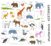 animal alphabet poster for... | Shutterstock .eps vector #425739895