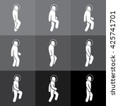 symbols of the astronaut in... | Shutterstock .eps vector #425741701