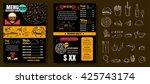 restaurant food menu vintage... | Shutterstock .eps vector #425743174