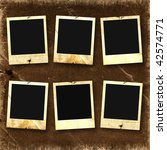 old photoframes are hanging on... | Shutterstock . vector #42574771