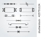 collection of hand drawn...   Shutterstock .eps vector #425751124
