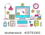 flat style modern design... | Shutterstock .eps vector #425751301