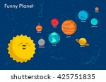 solar system background with... | Shutterstock .eps vector #425751835