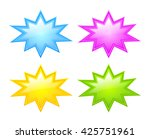 bursting star icon set vector... | Shutterstock .eps vector #425751961