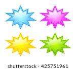 bursting star icon set vector... | Shutterstock .eps vector #425751961