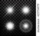 realistic lens flares star... | Shutterstock .eps vector #425754979
