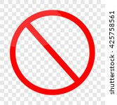 blank ban  vector | Shutterstock .eps vector #425758561