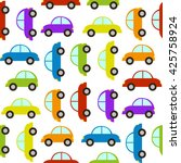 seamless pattern with car | Shutterstock .eps vector #425758924