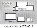 set of realistic computer... | Shutterstock .eps vector #425760811