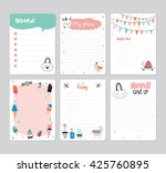 cute calendar daily planner... | Shutterstock .eps vector #425760895