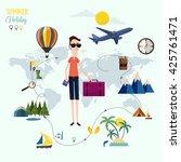 travel infographics | Shutterstock .eps vector #425761471