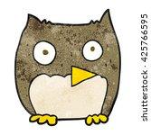 freehand textured cartoon owl | Shutterstock .eps vector #425766595